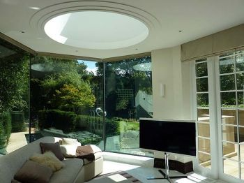 Family Room Extension with Circular Rooflight